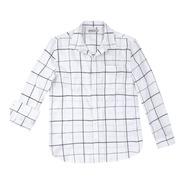 Camisa Masculina Manga Longa Flanelada Xadrez Hering Branco