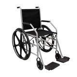 Cadeira De Rodas Com Pneu Maciço - Modelo 1009