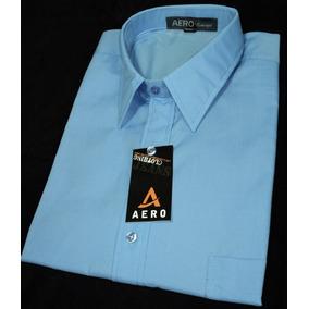 Camisa De Vestir Con Bolsillo Manga Larga Talle 46 Al 50 Inc