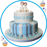 Tortas Personalizadas Para Bautizos Y Comunión 2 Pisos