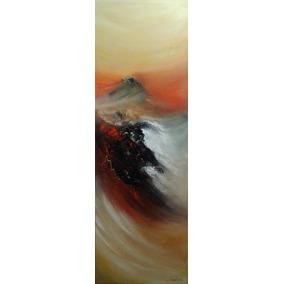 Quadro Abstrato Decorativo Para Sala 40x120 Pintado A Mão