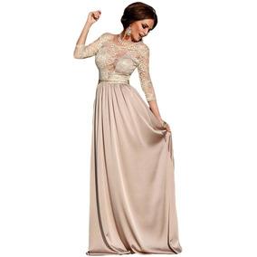 Vestidos Feminino Longo Festa Renda Formatura Madrinha M0036