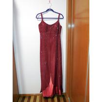 Vestido Largo De Fiesta Carlo Giovanni Con Pedrería Talla 14