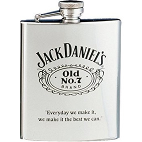 Jack Daniels Flask W/ Black Old No. 7