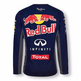 Camiseta Red Bull Blusa Camisa De Frio Mangas Longa Comprida