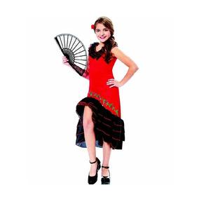 Difraz De Niña Halloween Flamenco España Talla 8 A 10 Años
