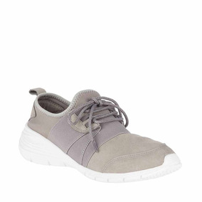 Tenis Casual Hush Puppies Mujer Comodo Color Gris Im1069 A