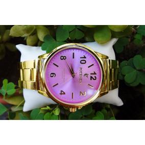 b22d3413441 Maravilhoso Relógio Oniret Todo Em Aço Dourado Leilão F1 - Relógios ...