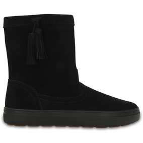 Crocs Originales Lodgepoint Suede Pullon Boot W Negro Mujer