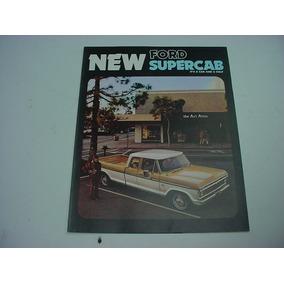 Folder Ford F100 F-100 Pickup Picape 74 1974 V8 Supercab