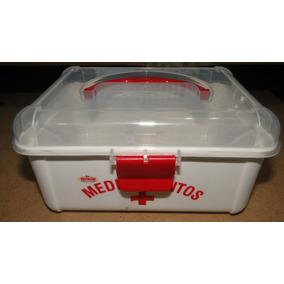 Maleta / Caixa Plástica P/ Guardar/transportar Medicamentos