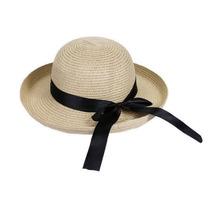 Sombrero De Playa Beige Cafe Elegante Y Casual