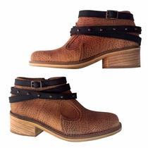 Botas Botitas Mujer Zapatos Cuero Taco Texano Vaquero