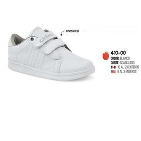 Zapato Escolar Blanco Para Niño 410-00 Cklass 2-18
