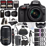 Nikon D3400 Dslr Camera With 18-55mm Lens (black) + Nikon Af