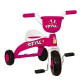 Triciclo Basculante Still Branco E Rosa
