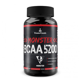 Frete Grátis! Monster Bcaa 5200 - 500 Tabletes - Powerfoods