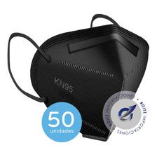 Barbijos N 95 Negro Pack X 50 Unidades Mascara Protectora