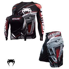 Kit Venum Rashguard+bermuda Strikefast 100% Original