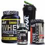 Combo Potencia Proteina + Pre Xplode No Bsn + Burn Hd + Vaso