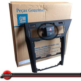 Kit Moldura Painel + Botão Pisca Vectra 06/11 Preto Original