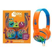 Fone De Ouvido Boo Criança Oex Headphone Hp301 Laranja