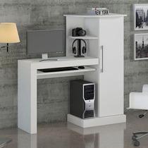 Mesa Para Computador Safira Notável Móveis Branco