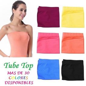 Strapless Tube Top Variedad De Colores