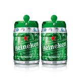 Kit Com 2 Barris De Chopp Heineken Com 5 Litros Cada