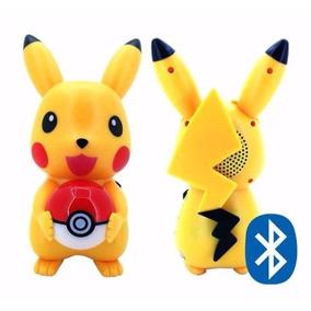 Caixa De Som Pokémon Led Bluetooth Pikachu Mp3 Rádio