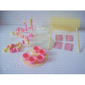 Brinquedo Antigo Estrela Barbie Acessorios Sorveteria 80