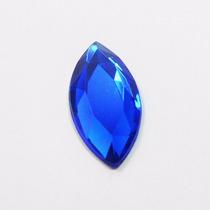 10 Zircônias Aaa Extra Cor Safira Azul Lapid. Navete 6x3mm