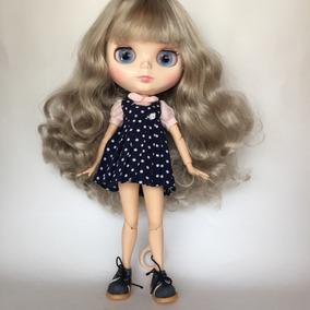 Blythe Cabelo Loiro Acinzentado Boneca Tbl (tipo Blythe)