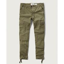 Pantalon Cargo Slim Straight Abercrombie Importado De Eeuu