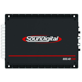 Potencia Soundigital Sd800.4 900w Rms Nano Digital 4 Canales
