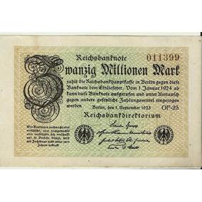 Alemanha 20 Milhões De Marks 1923 Sob/fe