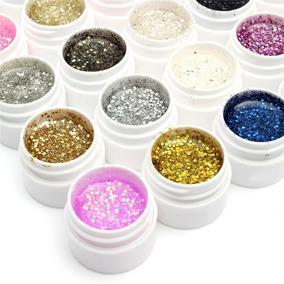 Gel Uv Colorx12 Semi Glitter Construccion Uñas Gelificadas
