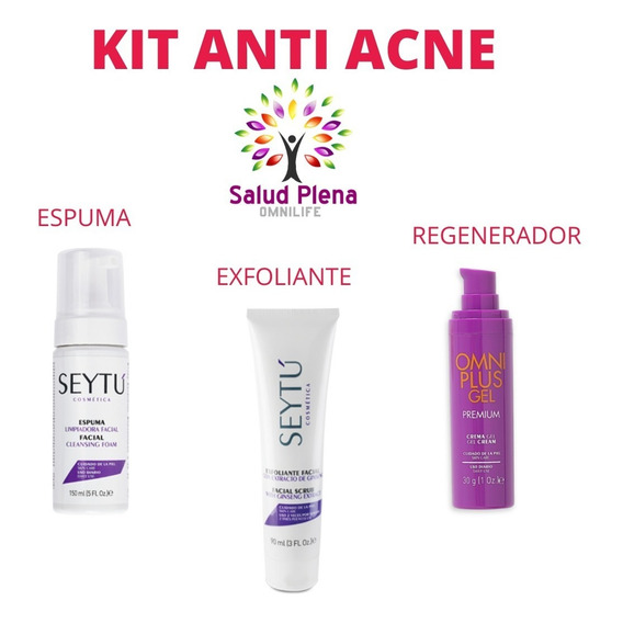 Kit Anti Acne Full - Espuma Exfoliante Y Regenerador Seytu