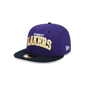Bone Aba Reta Lakers Nba Lilas - Bonés no Mercado Livre Brasil 54cc8965390
