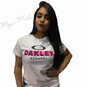 Camiseta Manga Curta Feminina Oakley Blusa Promoção Oferta