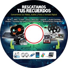 Conversión Cassette A Dvd Beta Vhs 8mm Minidv Vinilo Super8