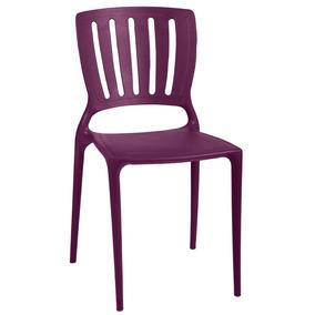 Cadeira Sofia Com Encosto Vazado Cor Lilás Tramontina