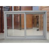Ventana Aluminio Blanco Herrero 120 X 080 Con Vidrio