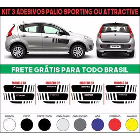 Kit Adesivo Novo Palio Sporting Atractive Frete Grátis