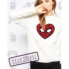 Sudadera Mujer Spiderman Corazon Hombre Araña