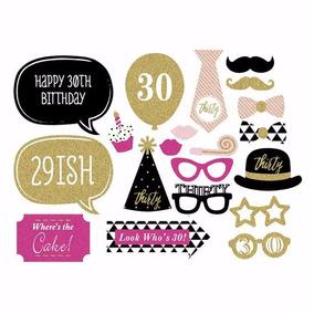 Kit Decoración Fiesta 30 Años Cumpleaños Arreglo Mujer