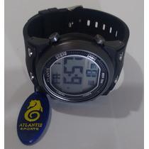 Relogio Atlantis Digital Cronometro Bonito Prova Dagua