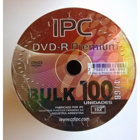 Dvd-r Virgen Ipc Premium 16x 4.7gb Bulk De 100