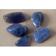 Piedra Calcedonia Azul Rolada Nro. 2