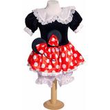 Disfraz Minnie Negro Y Rojo Princesas Primera Calidad